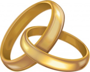 wedding rings clipart